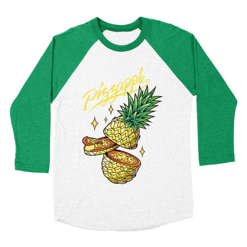 Pizzapple Men's Baseball Triblend Longsleeve T-Shirt by kooky love's Artist Shop