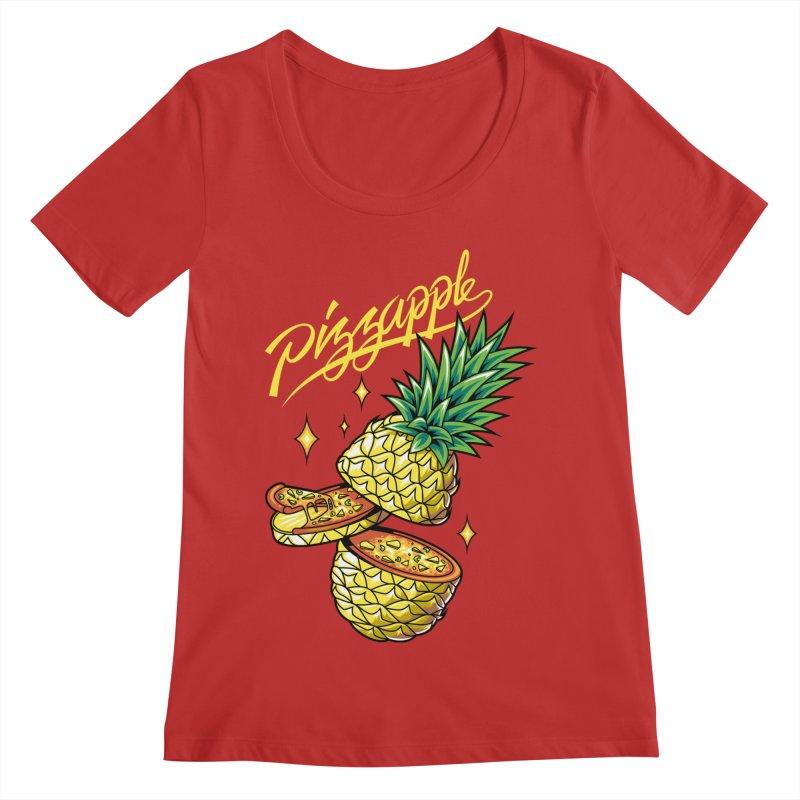 Pizzapple Women's Regular Scoop Neck by kooky love's Artist Shop