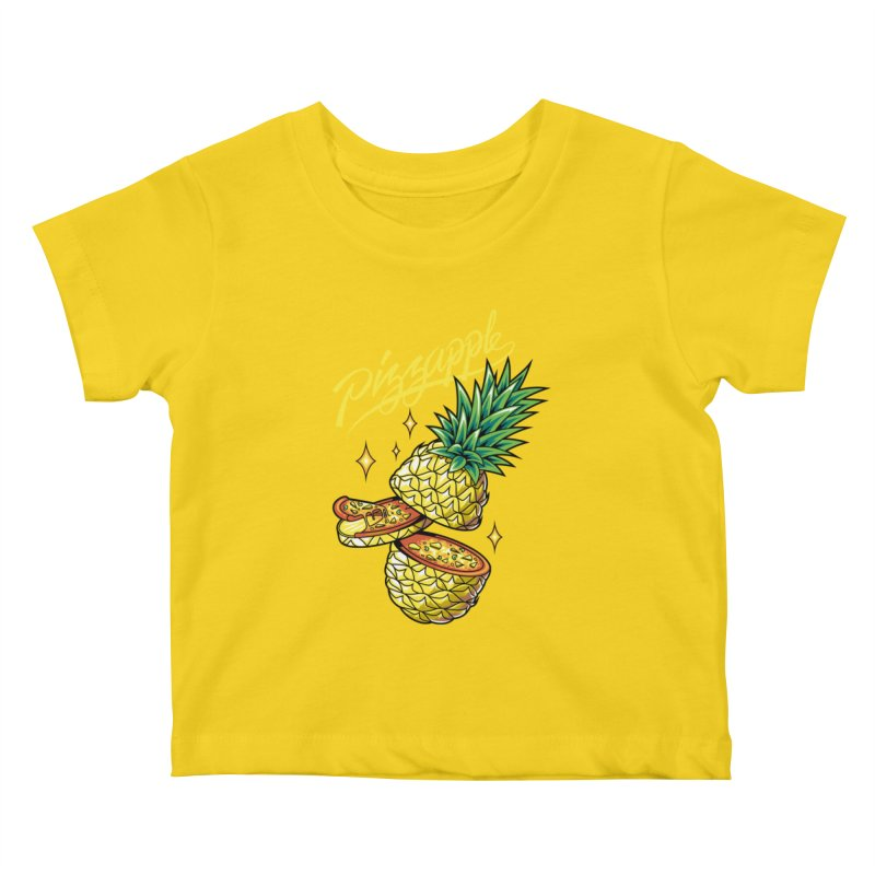 Pizzapple Kids Baby T-Shirt by kooky love's Artist Shop