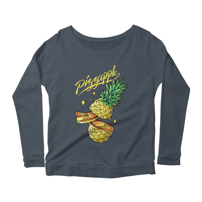 Pizzapple Women's Scoop Neck Longsleeve T-Shirt by kooky love's Artist Shop