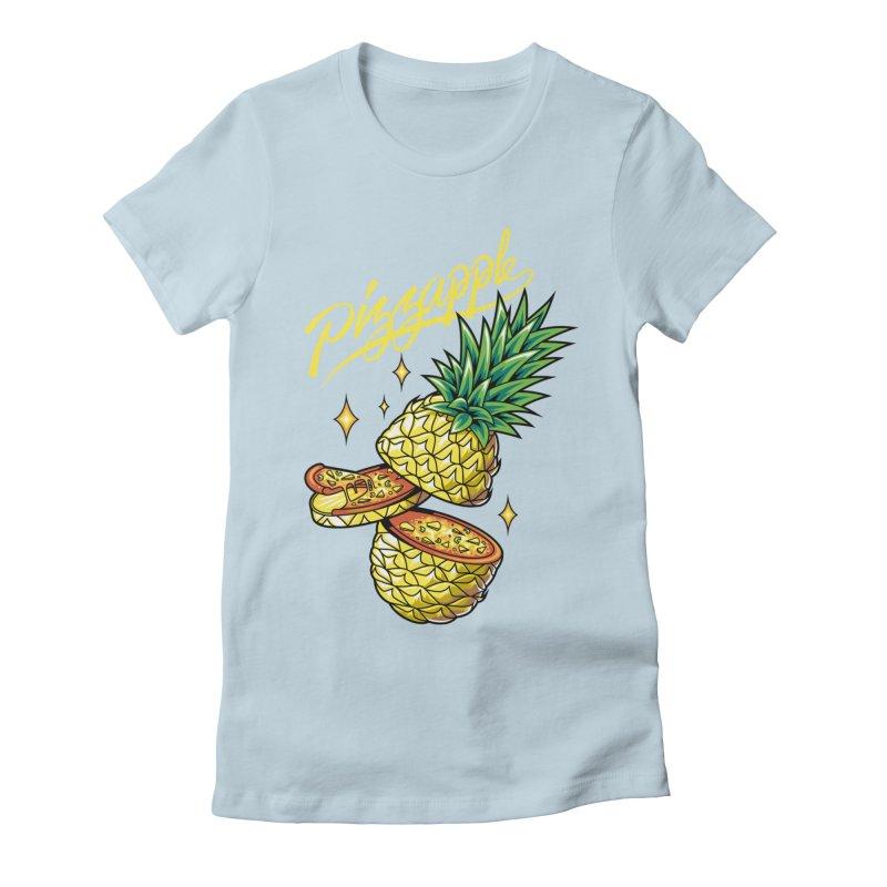 Pizzapple Women's Fitted T-Shirt by kooky love's Artist Shop