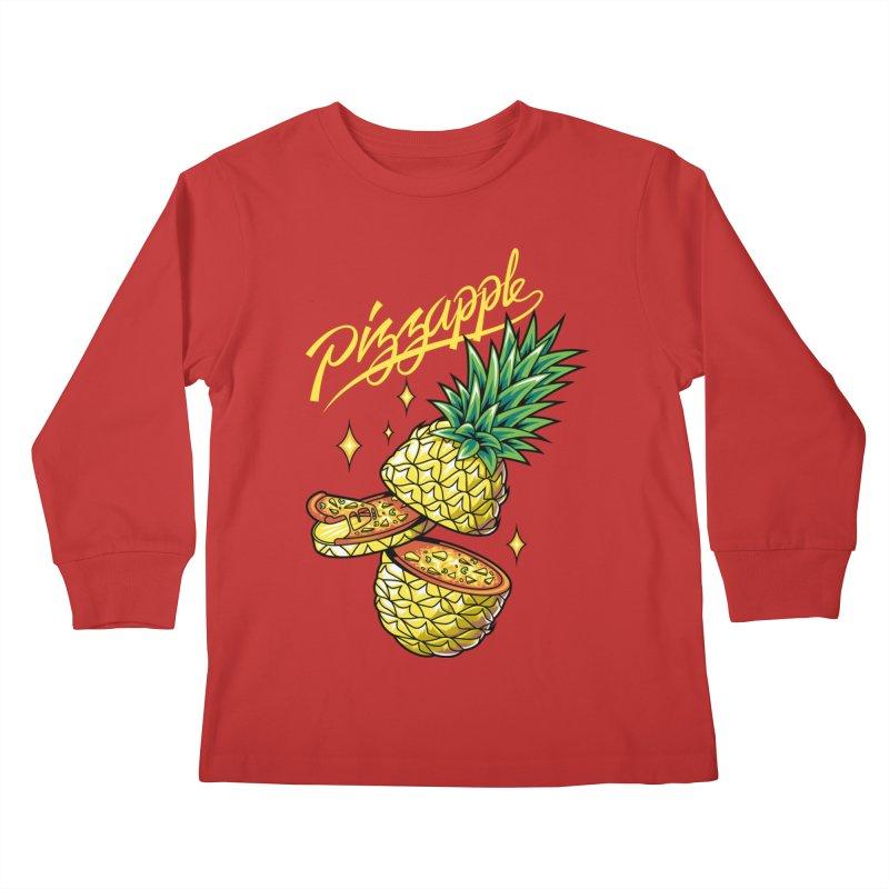 Pizzapple Kids Longsleeve T-Shirt by kooky love's Artist Shop