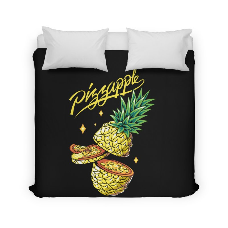 Pizzapple Home Duvet by kooky love's Artist Shop