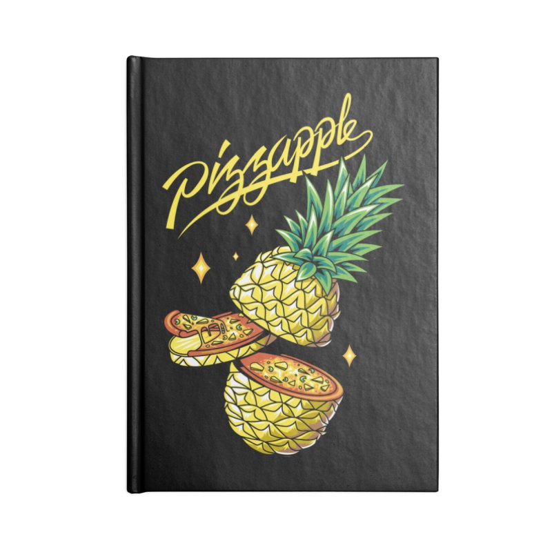 Pizzapple Accessories Lined Journal Notebook by kooky love's Artist Shop