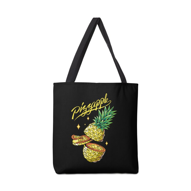 Pizzapple Accessories Tote Bag Bag by kooky love's Artist Shop