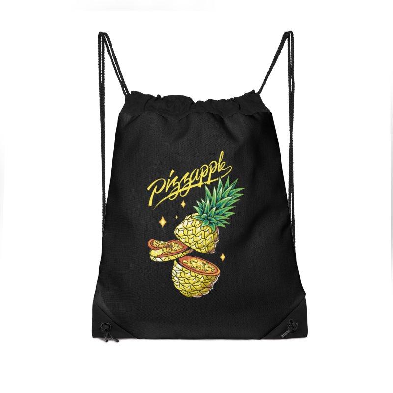 Pizzapple Accessories Drawstring Bag Bag by kooky love's Artist Shop
