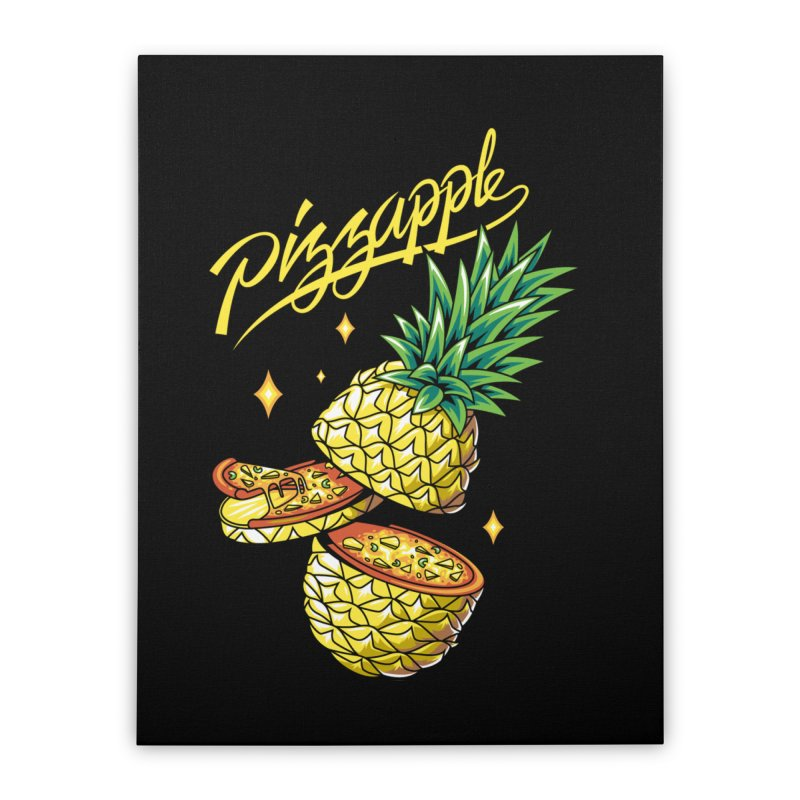 Pizzapple Home Stretched Canvas by kooky love's Artist Shop