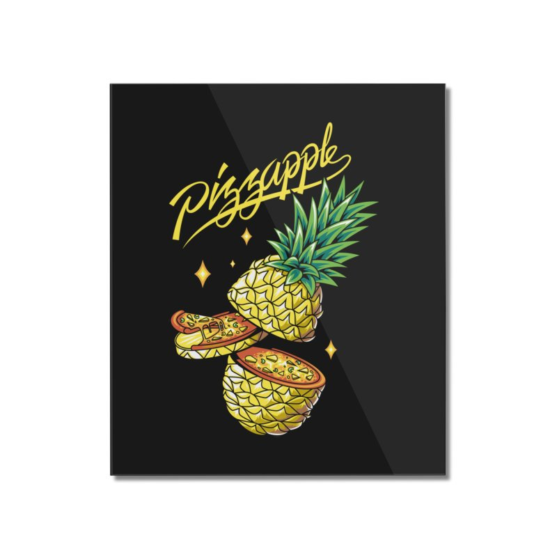 Pizzapple Home Mounted Acrylic Print by kooky love's Artist Shop
