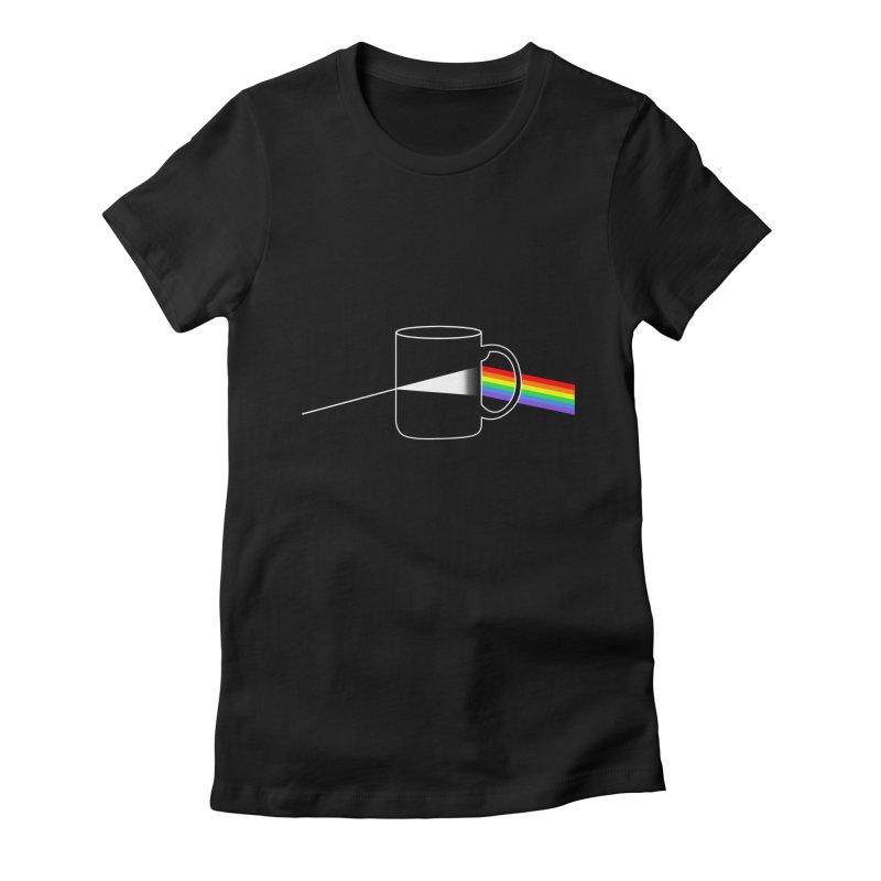 DARK COFFE Women's Fitted T-Shirt by kooky love's Artist Shop