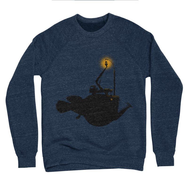 Lamp fish Men's Sponge Fleece Sweatshirt by kooky love's Artist Shop