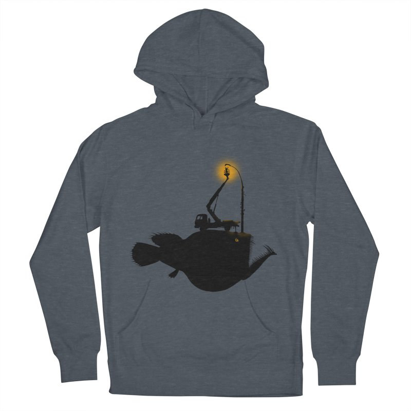 Lamp fish Women's French Terry Pullover Hoody by kooky love's Artist Shop