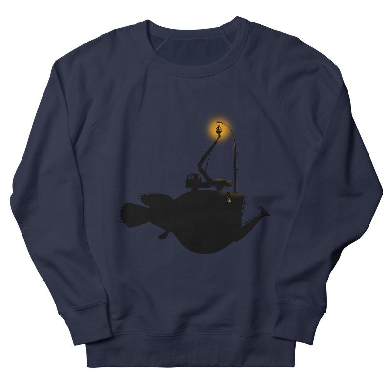 Lamp fish Women's French Terry Sweatshirt by kooky love's Artist Shop