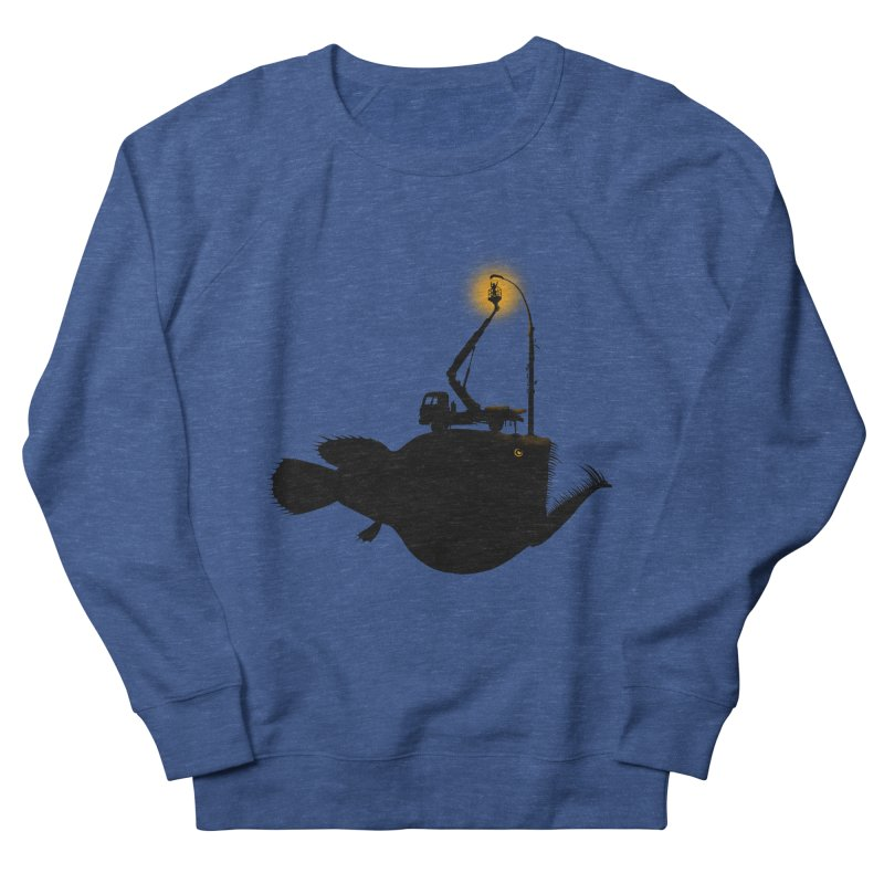 Lamp fish Men's French Terry Sweatshirt by kooky love's Artist Shop
