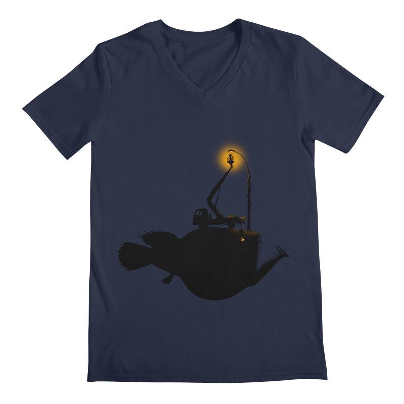 Lamp fish Men's Regular V-Neck by kooky love's Artist Shop