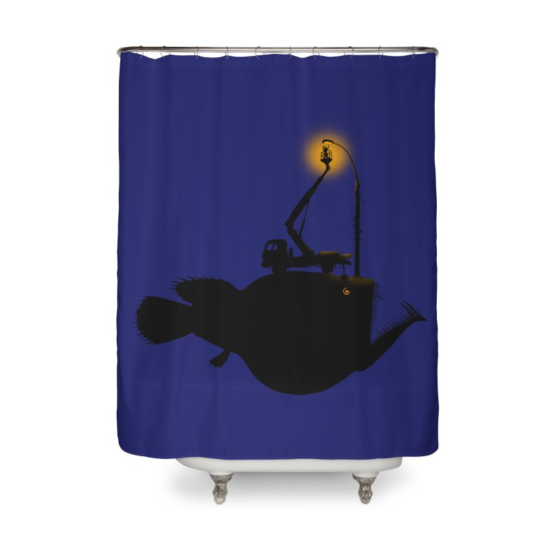Lamp fish Home Shower Curtain by kooky love's Artist Shop