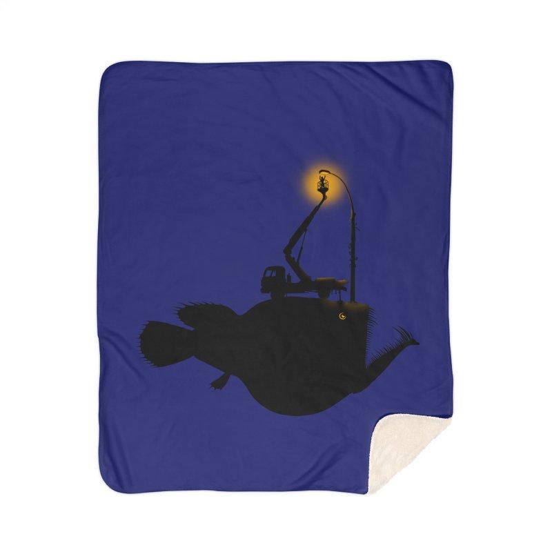 Lamp fish Home Sherpa Blanket Blanket by kooky love's Artist Shop