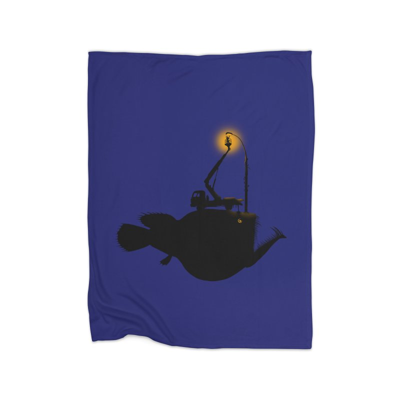 Lamp fish Home Fleece Blanket Blanket by kooky love's Artist Shop