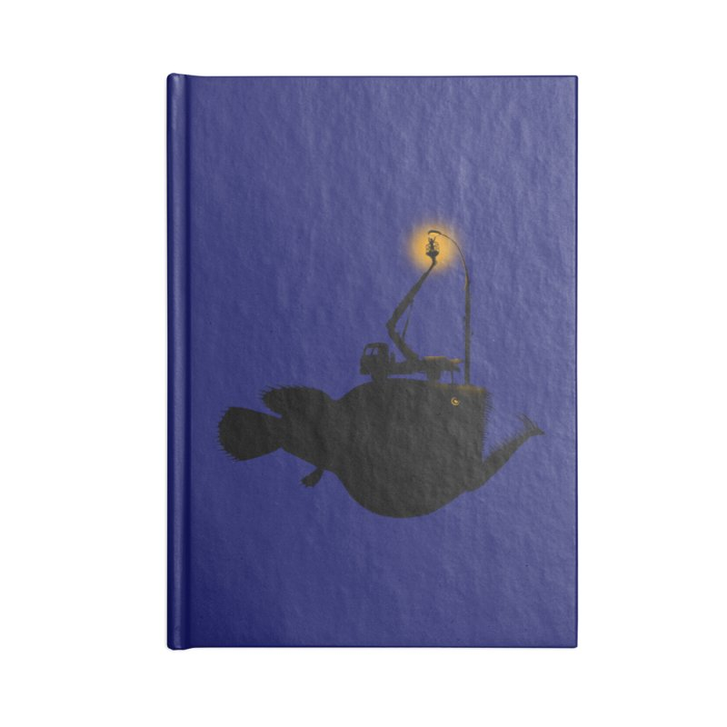 Lamp fish Accessories Lined Journal Notebook by kooky love's Artist Shop