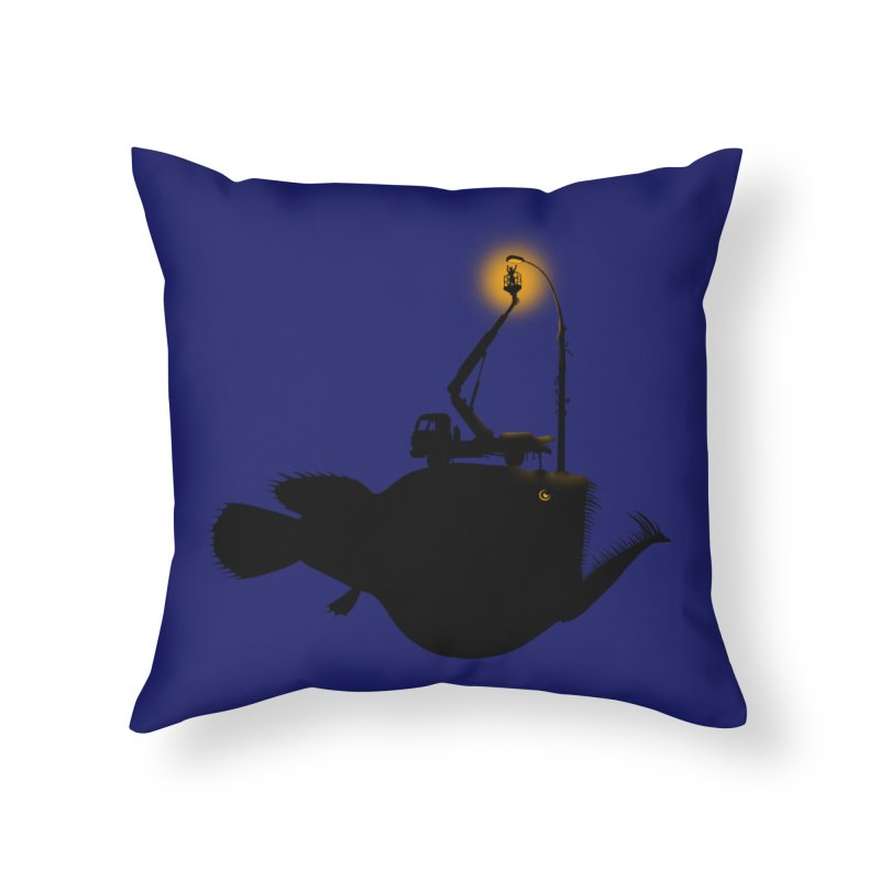 Lamp fish Home Throw Pillow by kooky love's Artist Shop