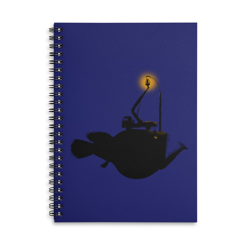 Lamp fish Accessories Lined Spiral Notebook by kooky love's Artist Shop