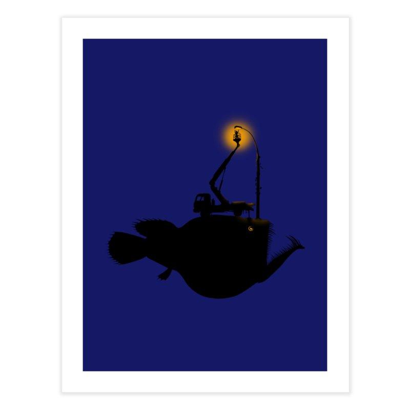 Lamp fish Home Fine Art Print by kooky love's Artist Shop