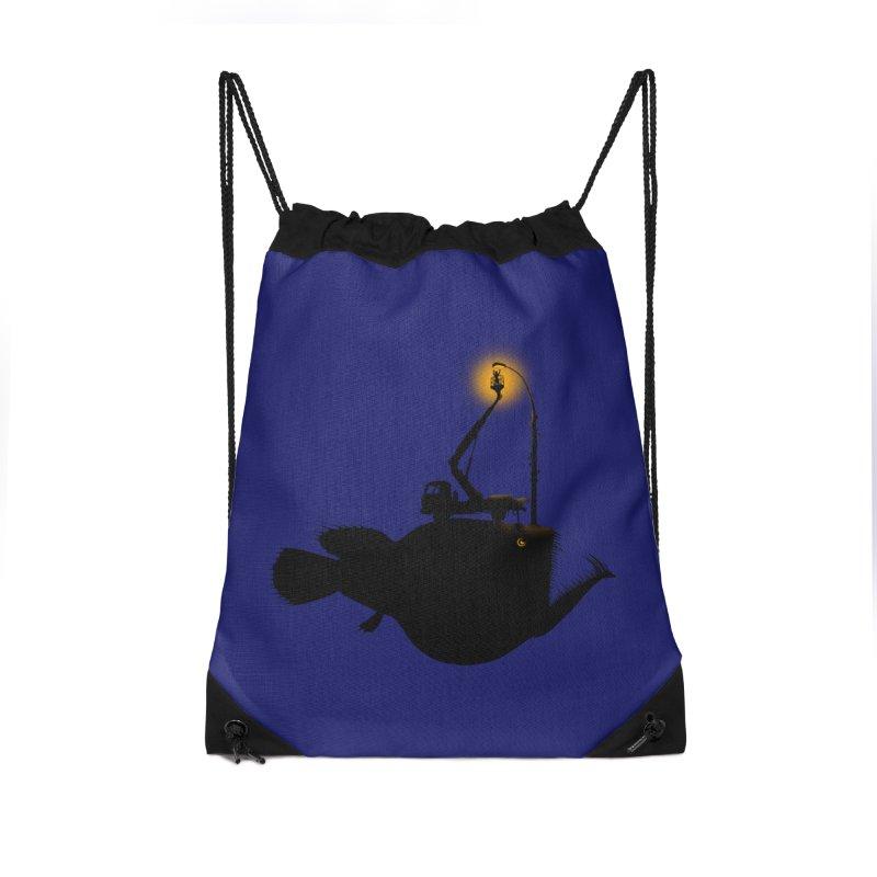 Lamp fish Accessories Drawstring Bag Bag by kooky love's Artist Shop