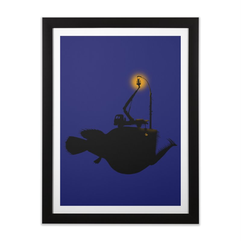 Lamp fish Home Framed Fine Art Print by kooky love's Artist Shop
