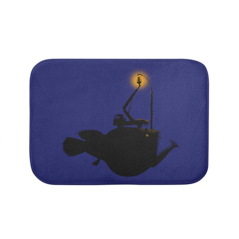 Lamp fish Home Bath Mat by kooky love's Artist Shop