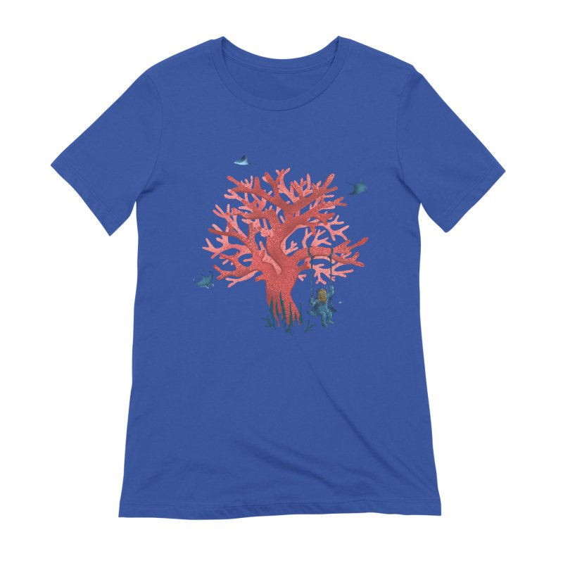 Coral Swing Women's Extra Soft T-Shirt by kooky love's Artist Shop