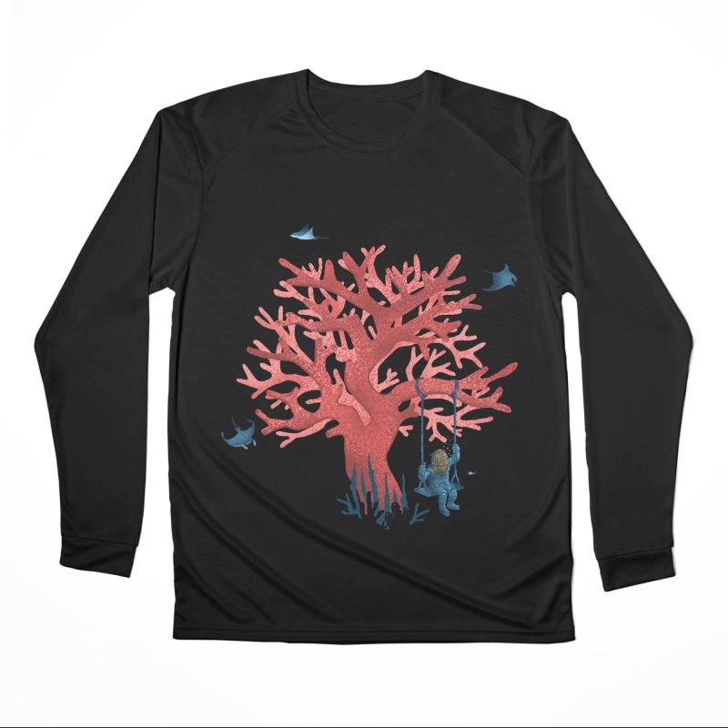 Coral Swing Men's Performance Longsleeve T-Shirt by kooky love's Artist Shop