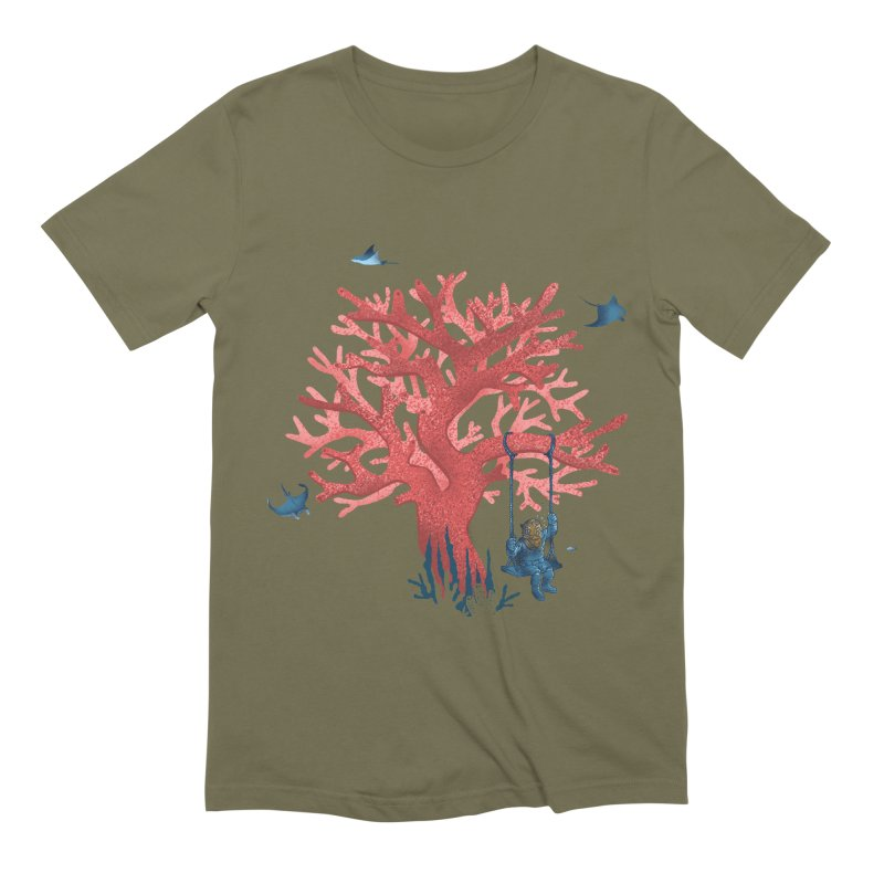 Coral Swing Men's Extra Soft T-Shirt by kooky love's Artist Shop