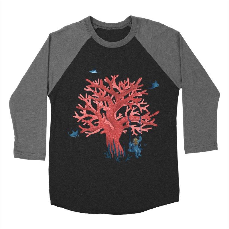 Coral Swing Men's Baseball Triblend Longsleeve T-Shirt by kooky love's Artist Shop