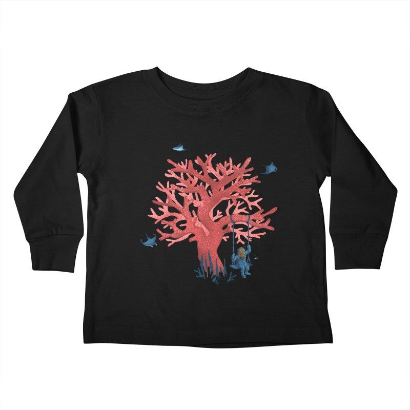 Coral Swing Kids Toddler Longsleeve T-Shirt by kooky love's Artist Shop