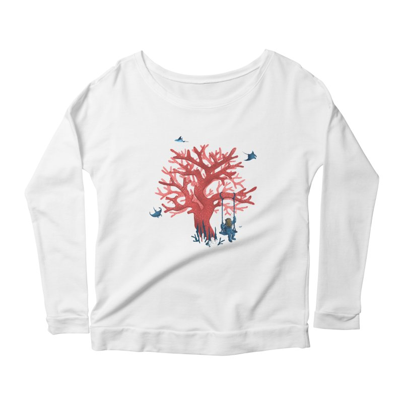 Coral Swing Women's Scoop Neck Longsleeve T-Shirt by kooky love's Artist Shop