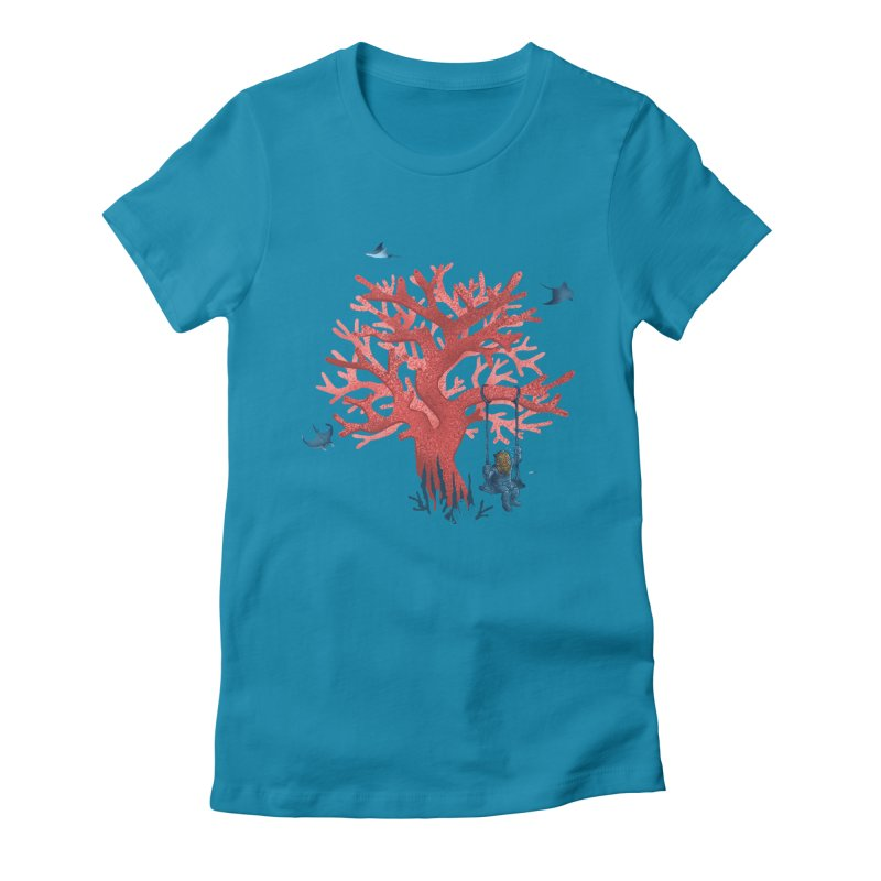 Coral Swing Women's Fitted T-Shirt by kooky love's Artist Shop