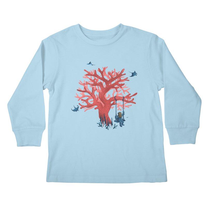 Coral Swing Kids Longsleeve T-Shirt by kooky love's Artist Shop
