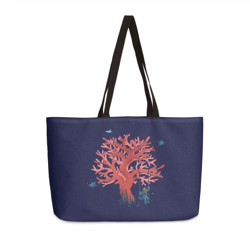 Coral Swing Accessories Weekender Bag Bag by kooky love's Artist Shop
