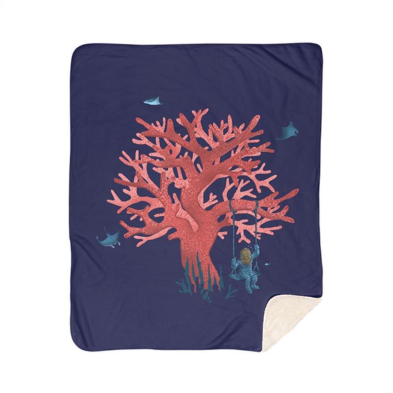 Coral Swing Home Sherpa Blanket Blanket by kooky love's Artist Shop