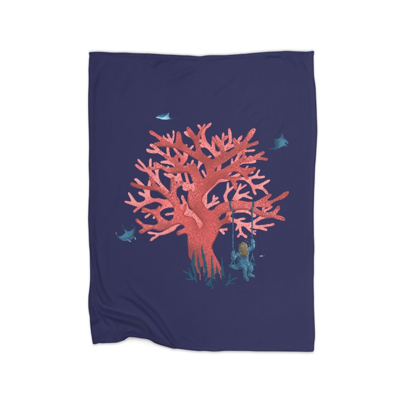 Coral Swing Home Fleece Blanket Blanket by kooky love's Artist Shop
