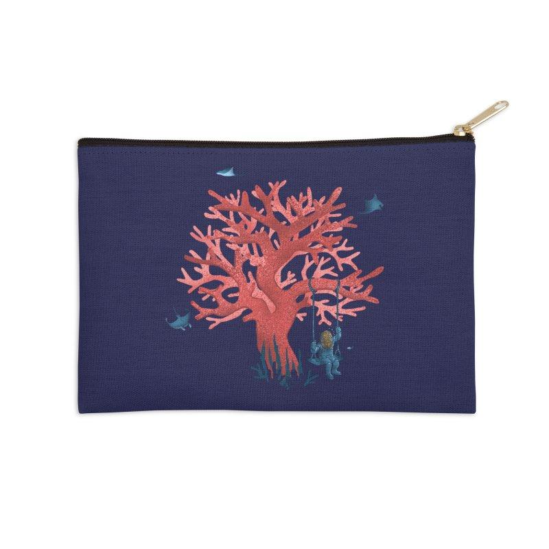 Coral Swing Accessories Zip Pouch by kooky love's Artist Shop