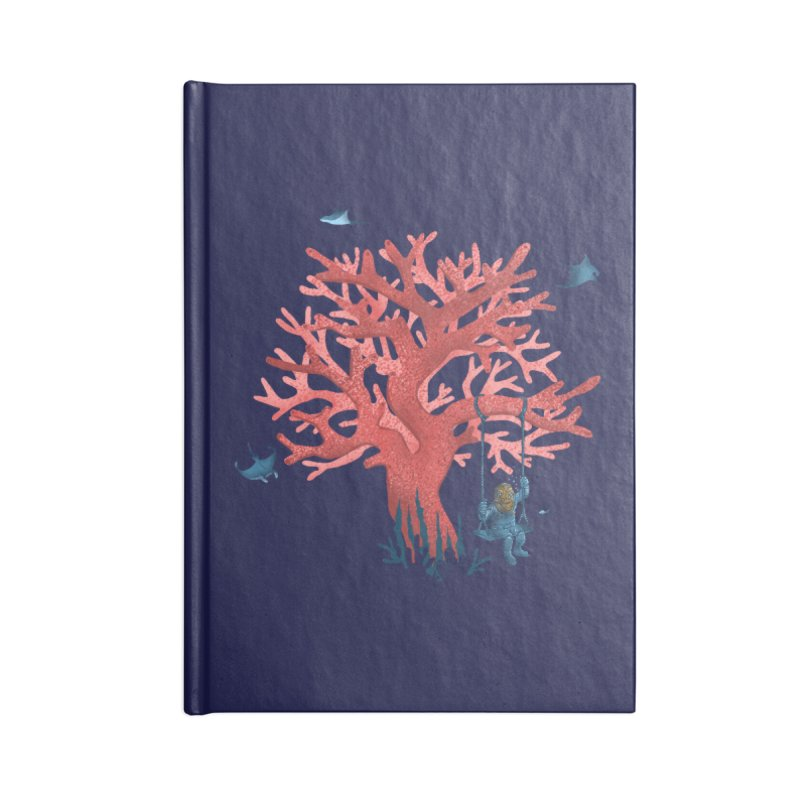 Coral Swing Accessories Lined Journal Notebook by kooky love's Artist Shop