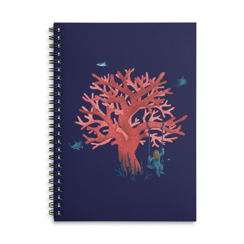 Coral Swing Accessories Lined Spiral Notebook by kooky love's Artist Shop