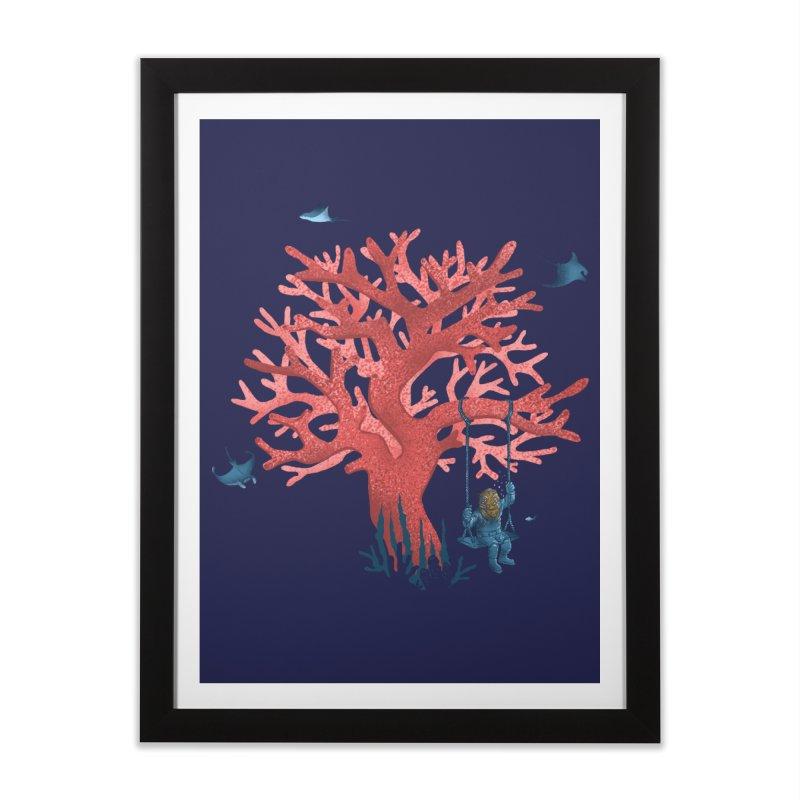 Coral Swing Home Framed Fine Art Print by kooky love's Artist Shop