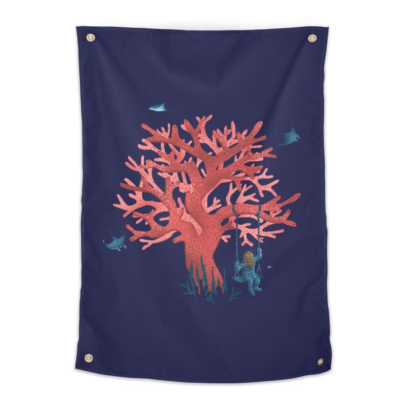 Coral Swing Home Tapestry by kooky love's Artist Shop