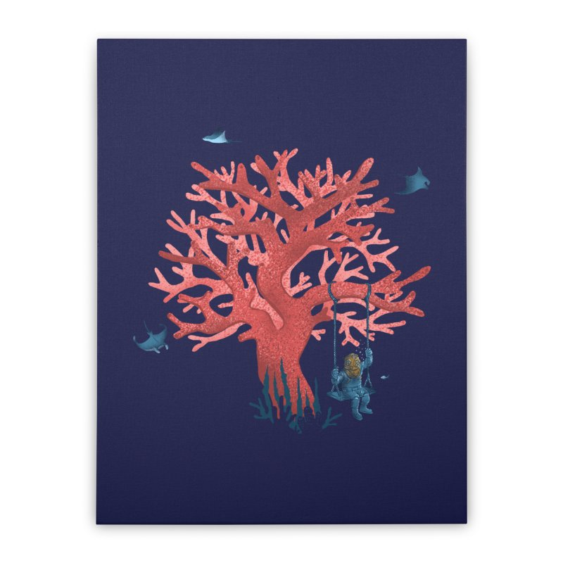 Coral Swing Home Stretched Canvas by kooky love's Artist Shop
