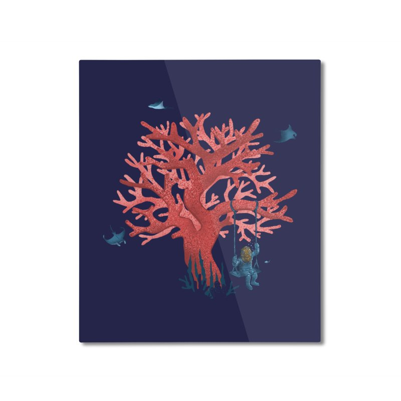 Coral Swing Home Mounted Aluminum Print by kooky love's Artist Shop