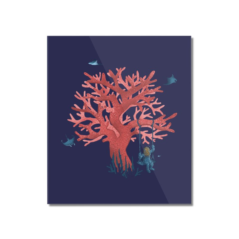 Coral Swing Home Mounted Acrylic Print by kooky love's Artist Shop