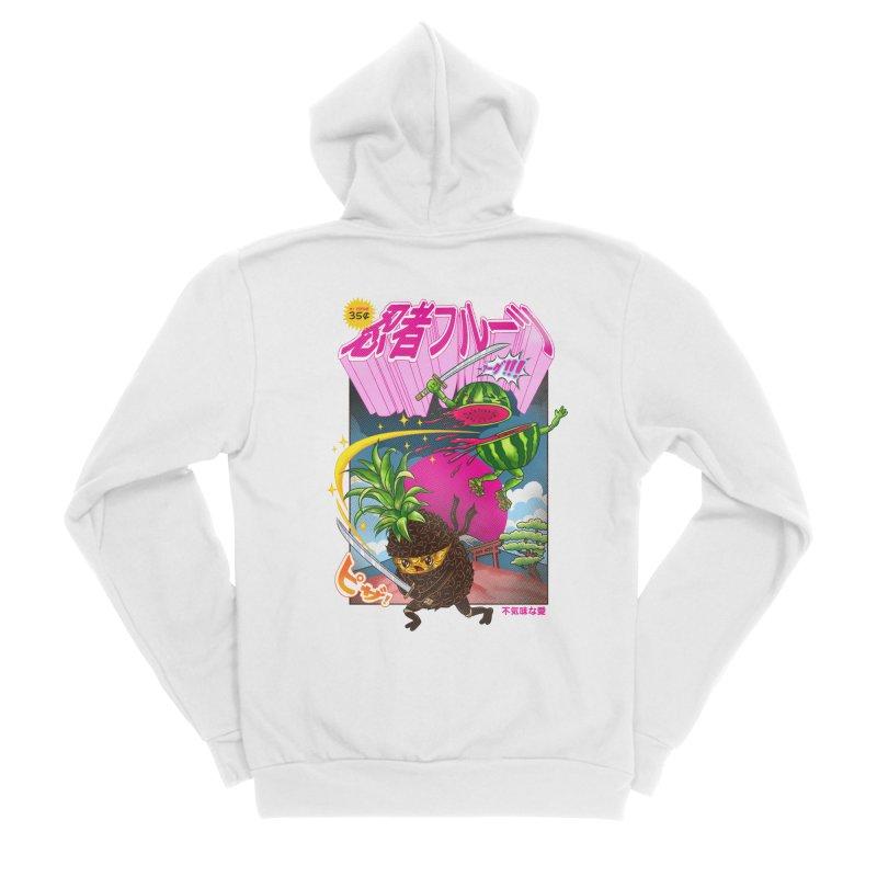 Ninja Fruit Women's Sponge Fleece Zip-Up Hoody by kooky love's Artist Shop