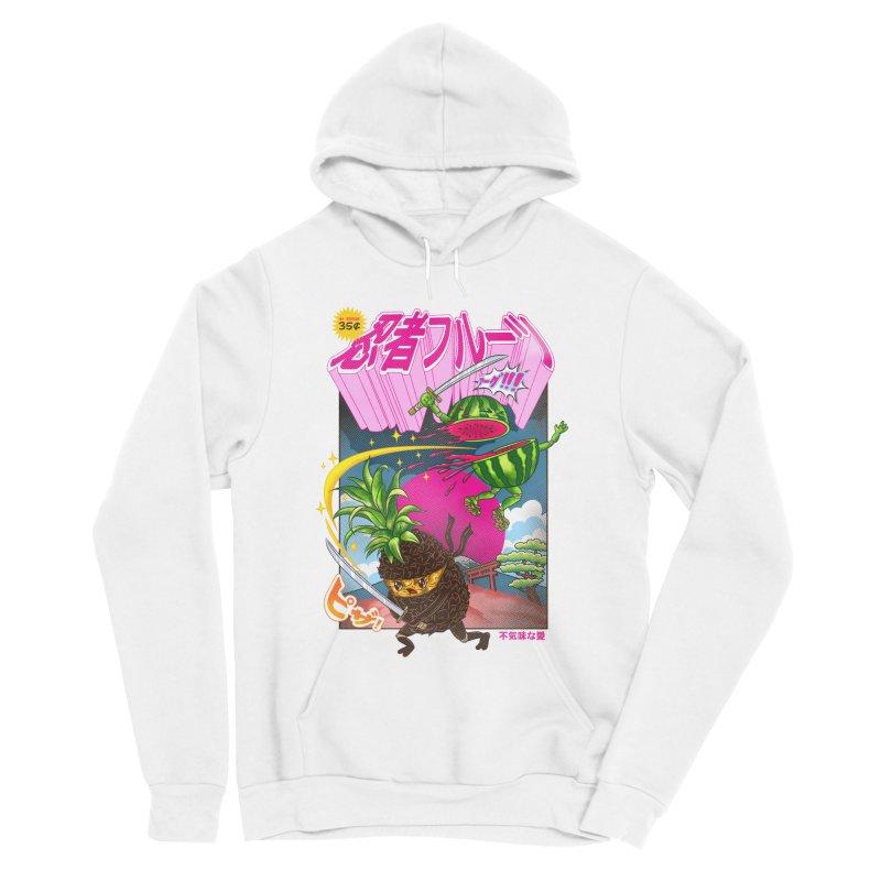 Ninja Fruit Men's Sponge Fleece Pullover Hoody by kooky love's Artist Shop