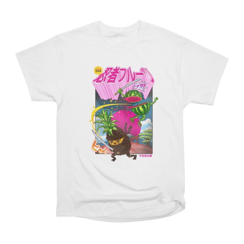 Ninja Fruit Women's Heavyweight Unisex T-Shirt by kooky love's Artist Shop